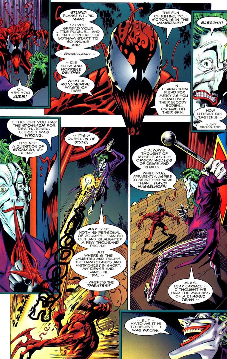 Carnage grosses out Joker